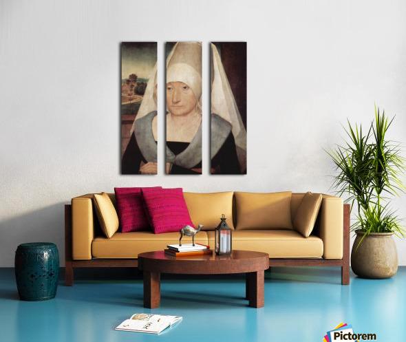 Portrait of an old woman, 1472 Split Canvas print