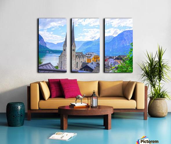 One Fine Day in Hallstatt Austria Split Canvas print