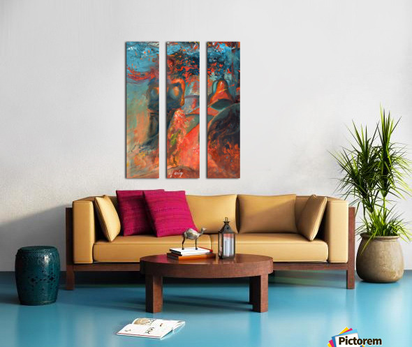 Woman in the blue dress Split Canvas print