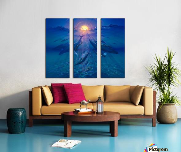 Pacific Sunrise Split Canvas print