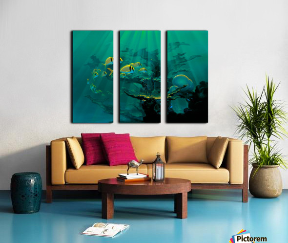 Atlantic Reef Split Canvas print