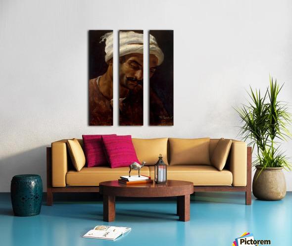 Head of an Arab Split Canvas print