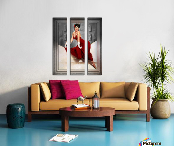 Picture Pretty by Gil Elvgren Classic Xzendor7 Old Masters Reproductions Split Canvas print