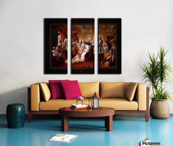 The Russian Brides Attire by Konstantin Makovsky Classical Fine Art Xzendor7 Old Masters Reproductions Split Canvas print