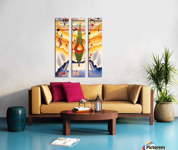 1987 09  Split Canvas print