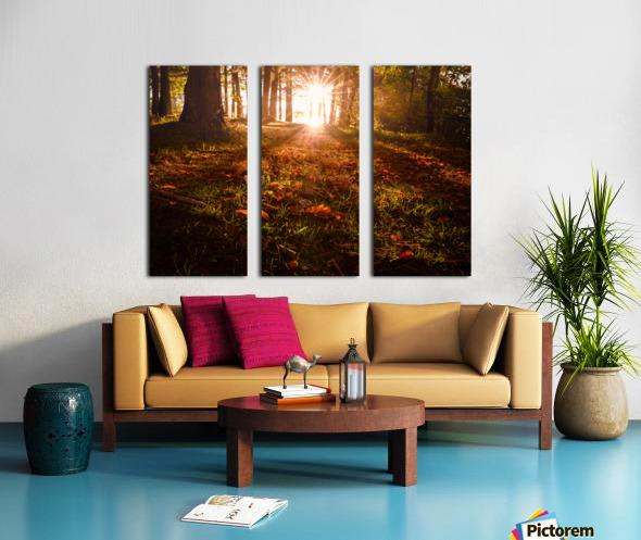Autumn Sunrise Split Canvas print
