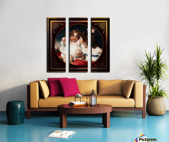 Nature - The Calmady Children by Sir Thomas Lawrence Classical Fine Art Xzendor7 Old Masters Reproductions Split Canvas print