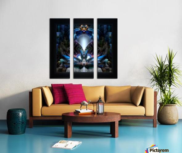 Herald The Light Fractal Wings Digital Art by Xzendor7 Split Canvas print