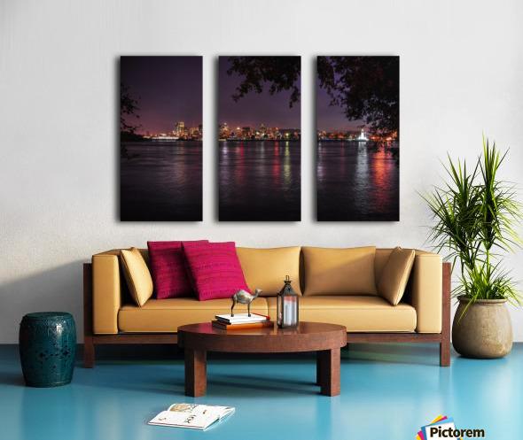 montreal night Split Canvas print