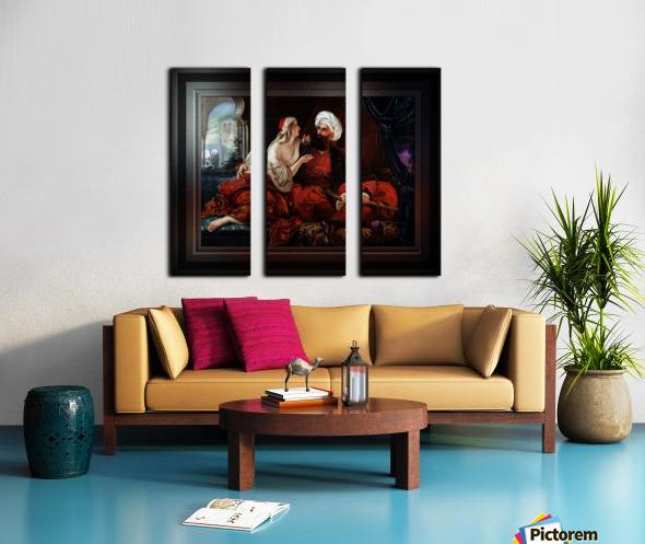 Ali Pasha and Kira Vassiliki by Paul Emil Jacobs Classical Fine Art Xzendor7 Old Masters Reproductions Split Canvas print