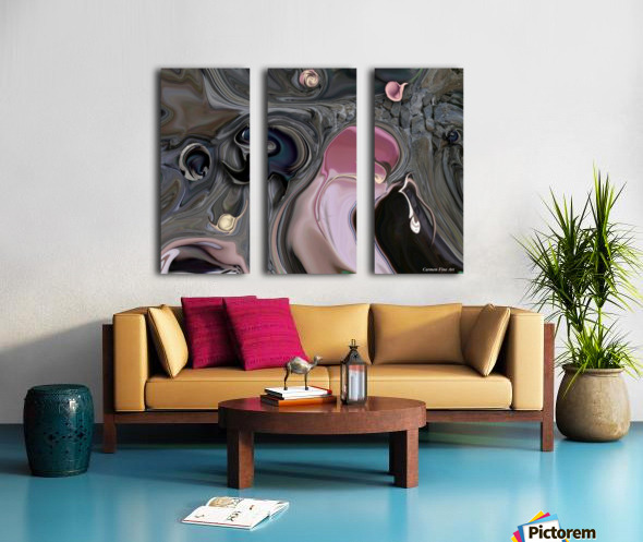 Mystic Experience Constructed Split Canvas print
