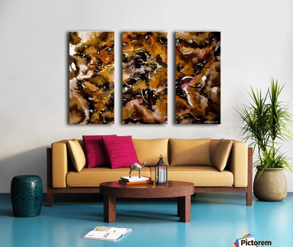 Autumnal Cut Split Canvas print