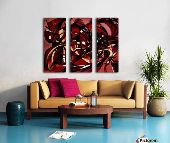 Intimate Still Life with Incidental Intensity Split Canvas print