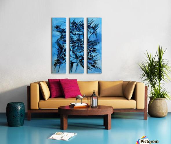 Sky vs Philosophy Split Canvas print