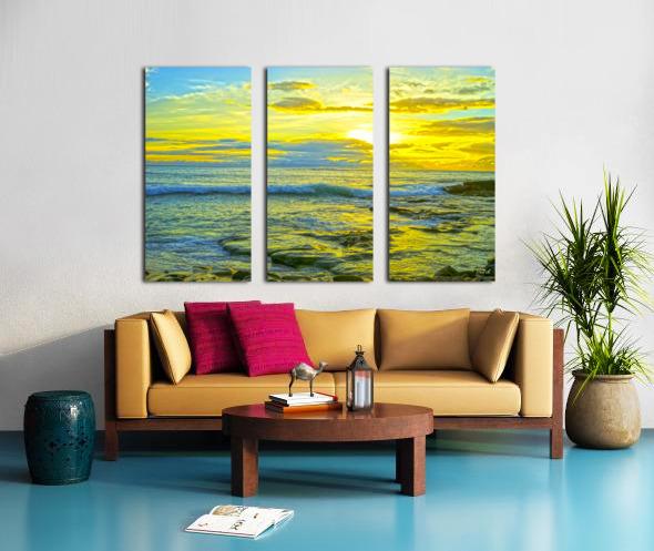 Sunset in Paradise   Hawaii Split Canvas print