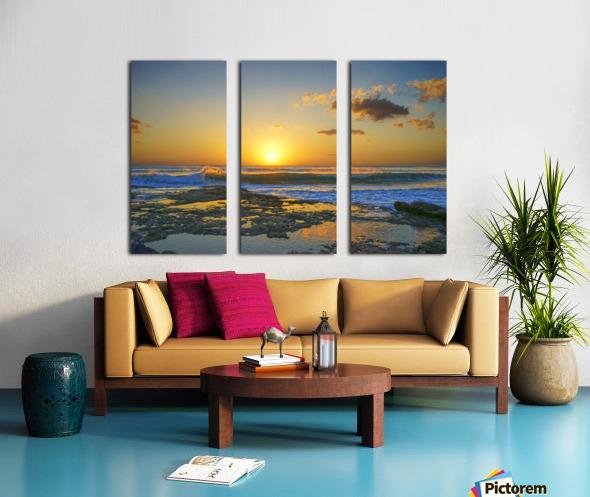 Brilliant Sunset at the Bay Hawaii Split Canvas print