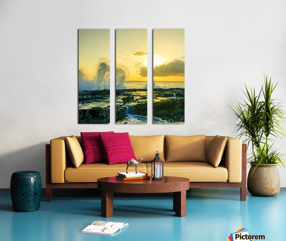 Waves Swirl at the Seaside Hawaii - Square Split Canvas print