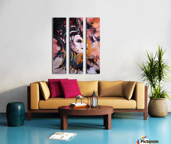 Act with Modern Elegance - Nefertiti Split Canvas print