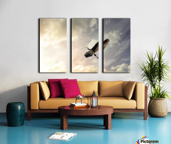 Heron Sunrise Split Canvas print