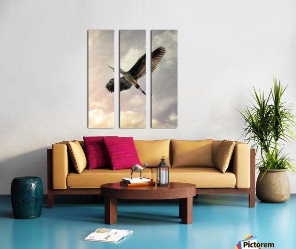 Flight Of The Heron Split Canvas print