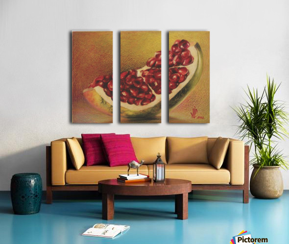 pomegranate by Vali Irina Ciobanu Split Canvas print