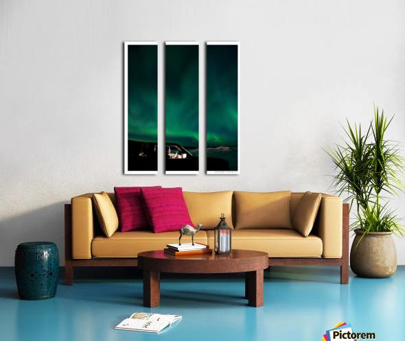 Aurora spectator Split Canvas print