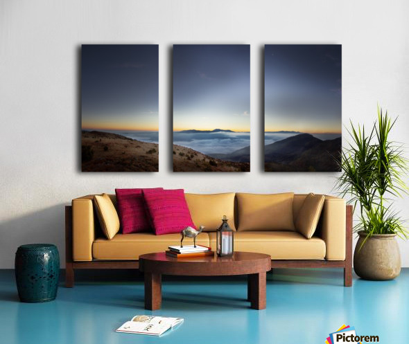 Sunrise Split Canvas print