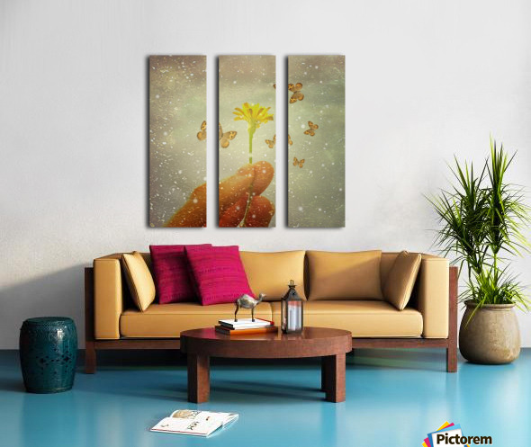Butterflies Charmer Split Canvas print