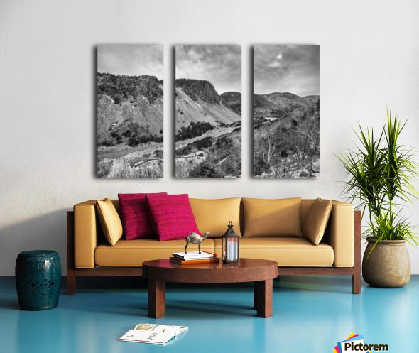 Cliffs of la Grande Falaise Split Canvas print