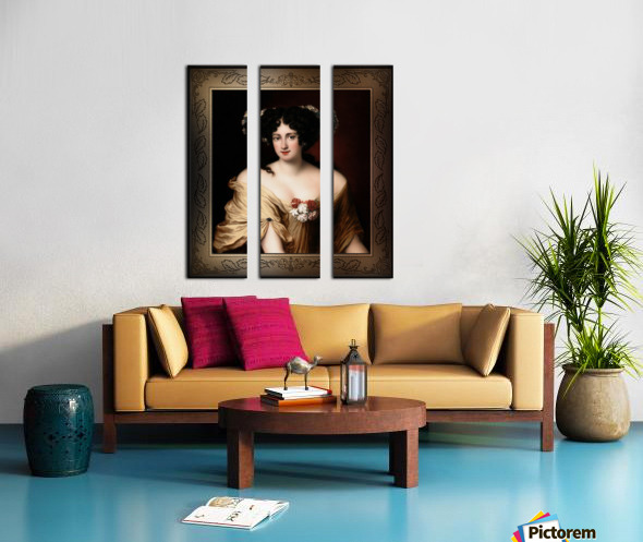Portrait of Contessa Ortensia Ianna Stella by Jacob Ferdinand Voet Classical Fine Art Xzendor7 Old Masters Reproductions Split Canvas print