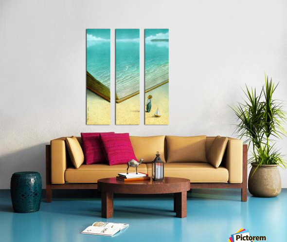 Ocean Split Canvas print