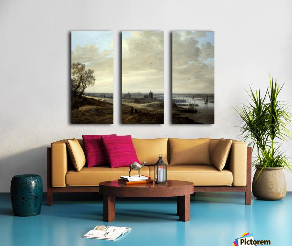 Panorama Landscape with a View of Arnhem Split Canvas print