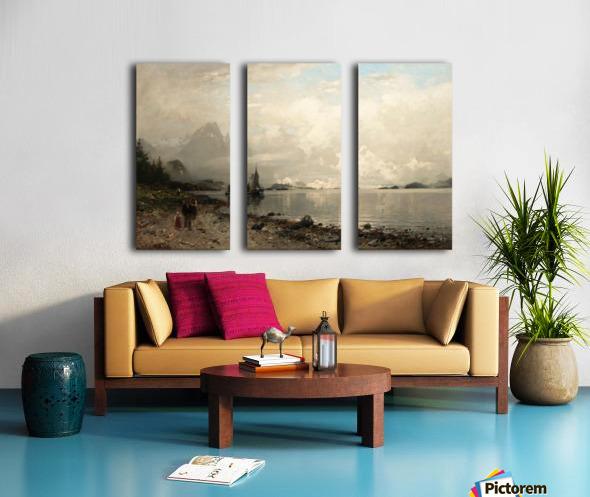 By the lake Split Canvas print