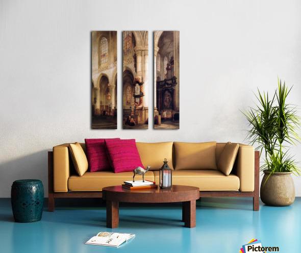 St Jacobskerk Antwerpen Sun Split Canvas print