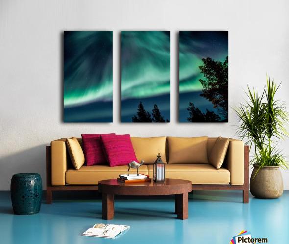 Green sky Split Canvas print