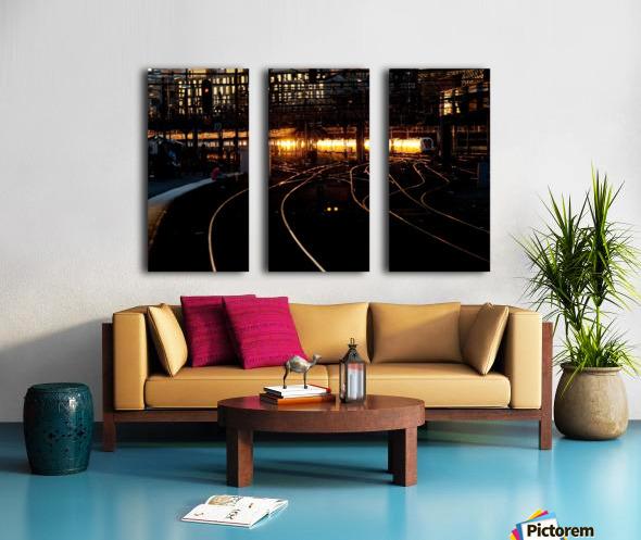 Golden train Split Canvas print