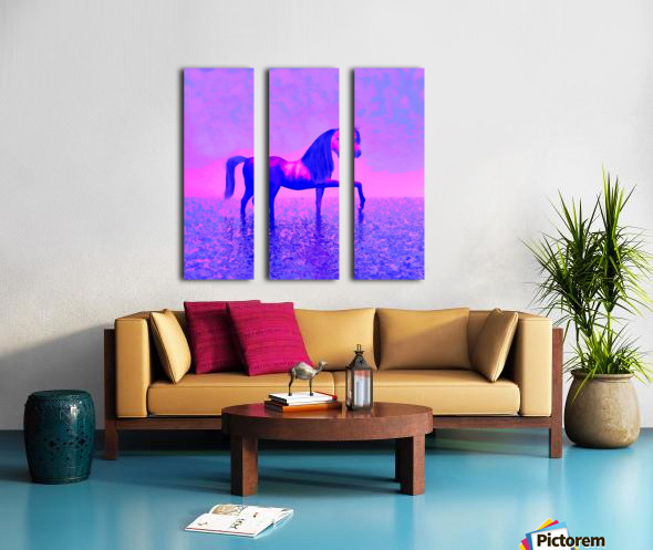 lonely horse Split Canvas print