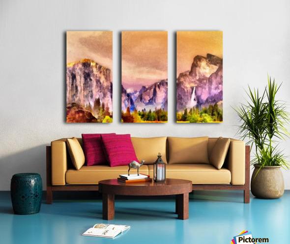 Yosemite park2 Split Canvas print