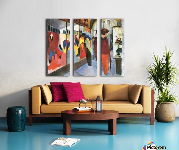 Fashion Store by August Macke Split Canvas print