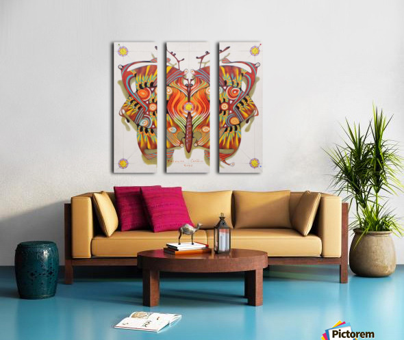 tribal butterfly Split Canvas print