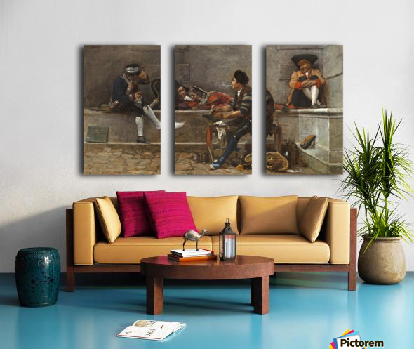 Running repairs Split Canvas print