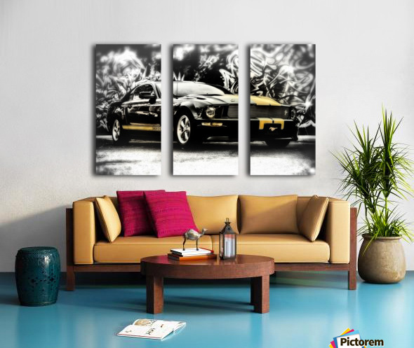 Against The Wall Split Canvas print