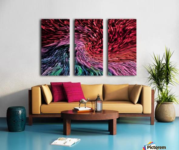 Color Wave Split Canvas print