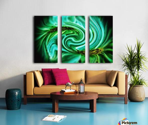 Flower Swirl Split Canvas print
