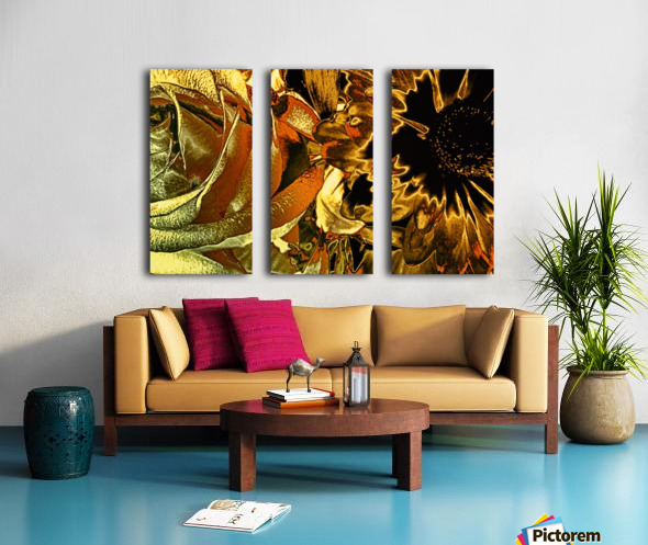 Just Golden Split Canvas print