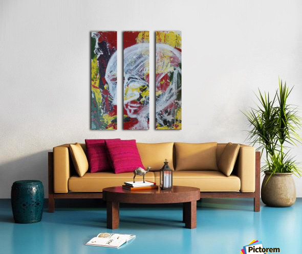 Chaos and Confusion Split Canvas print
