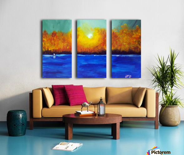Autumn Forest Split Canvas print