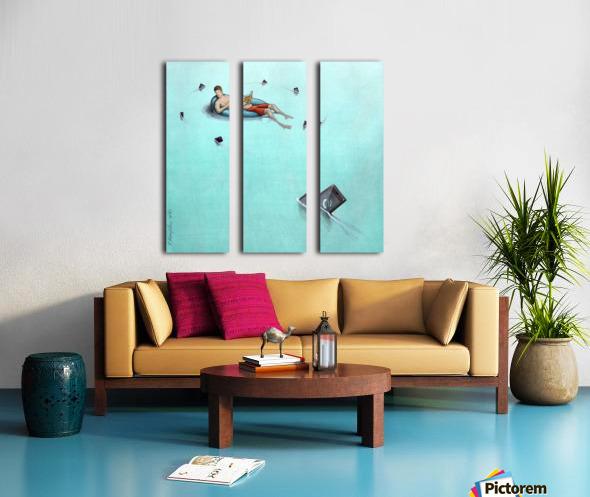 Sharks Split Canvas print