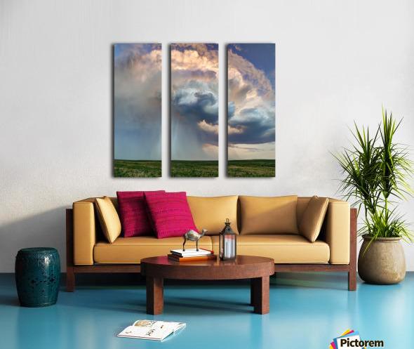 July Rain Storm Split Canvas print