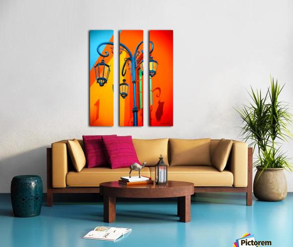 La Boca Lamp Shadows II Split Canvas print